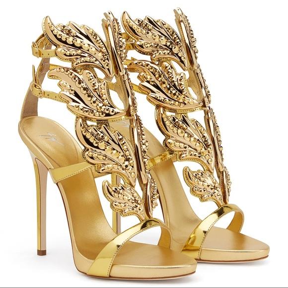 Giuseppe Cruel 7 New Zanotti Gold Crystal Us Nwt xBrdCoeW